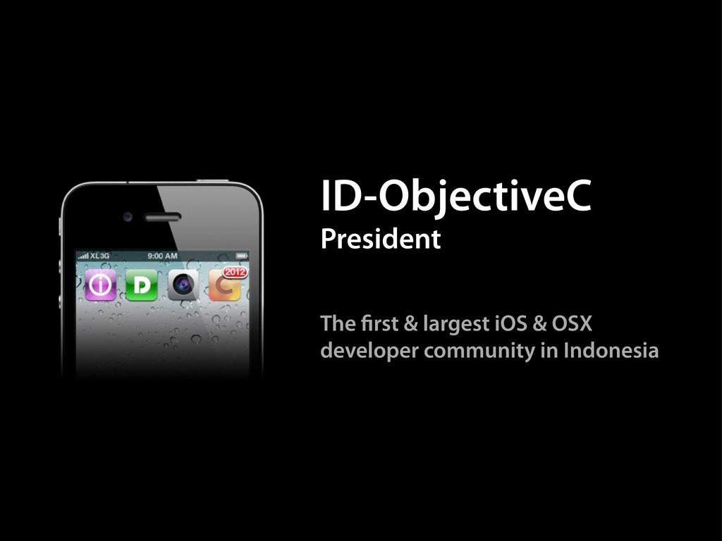 The rst & largest iOS & OSX developer community...