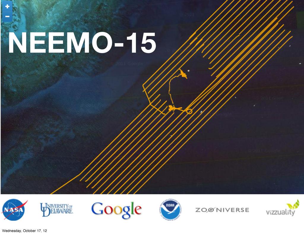 NEEMO-15 Wednesday, October 17, 12