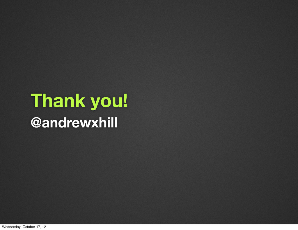 @andrewxhill Thank you! Wednesday, October 17, ...