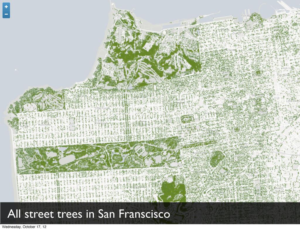 All street trees in San Franscisco Wednesday, O...