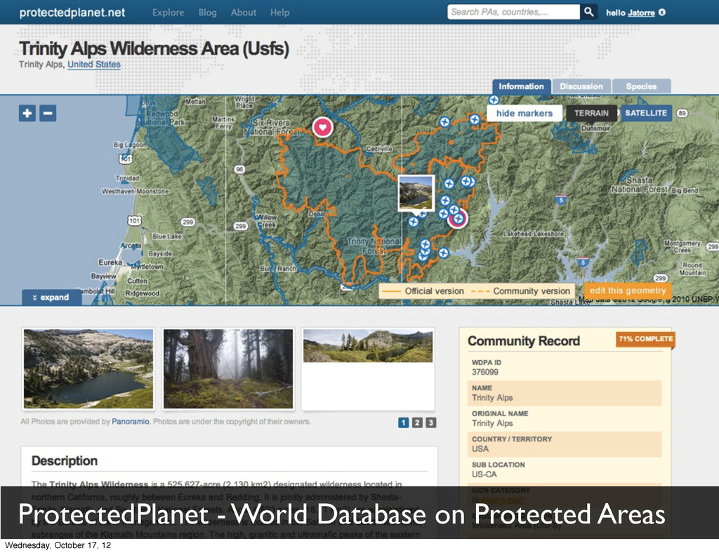 ProtectedPlanet - World Database on Protected A...