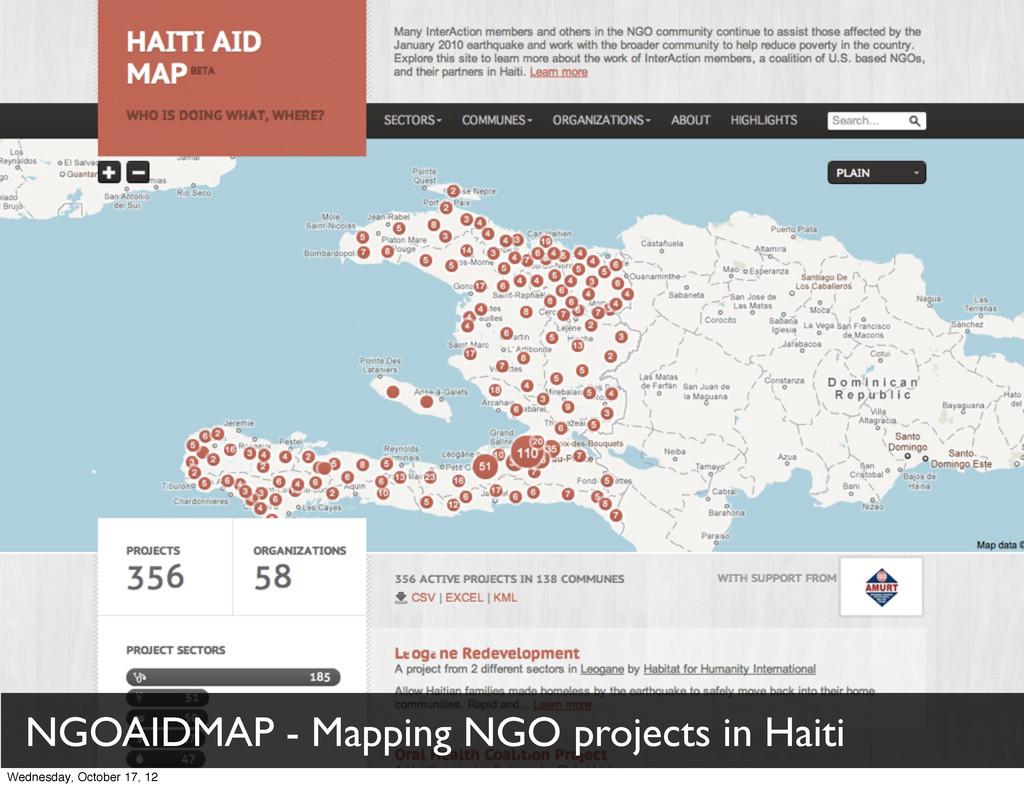 NGOAIDMAP - Mapping NGO projects in Haiti Wedne...