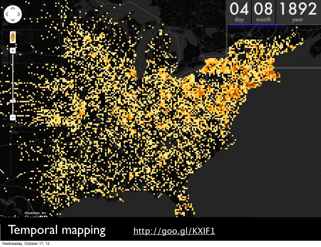 Temporal mapping http://goo.gl/KXIF1 Wednesday,...