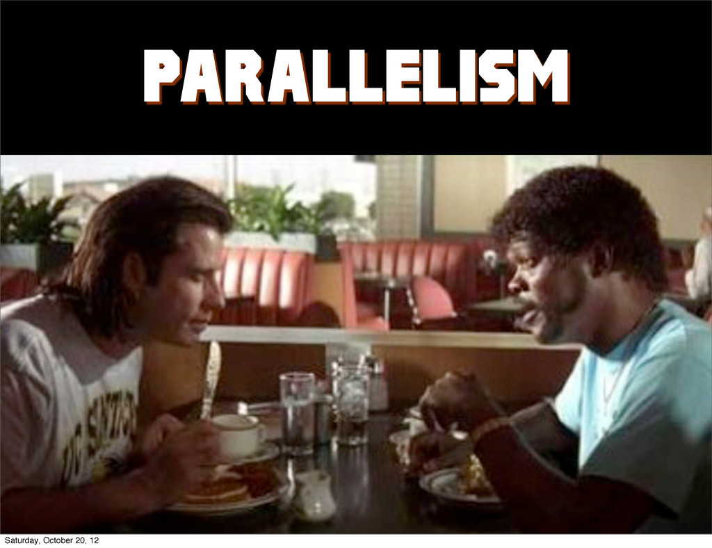 PARALLELISM Saturday, October 20, 12