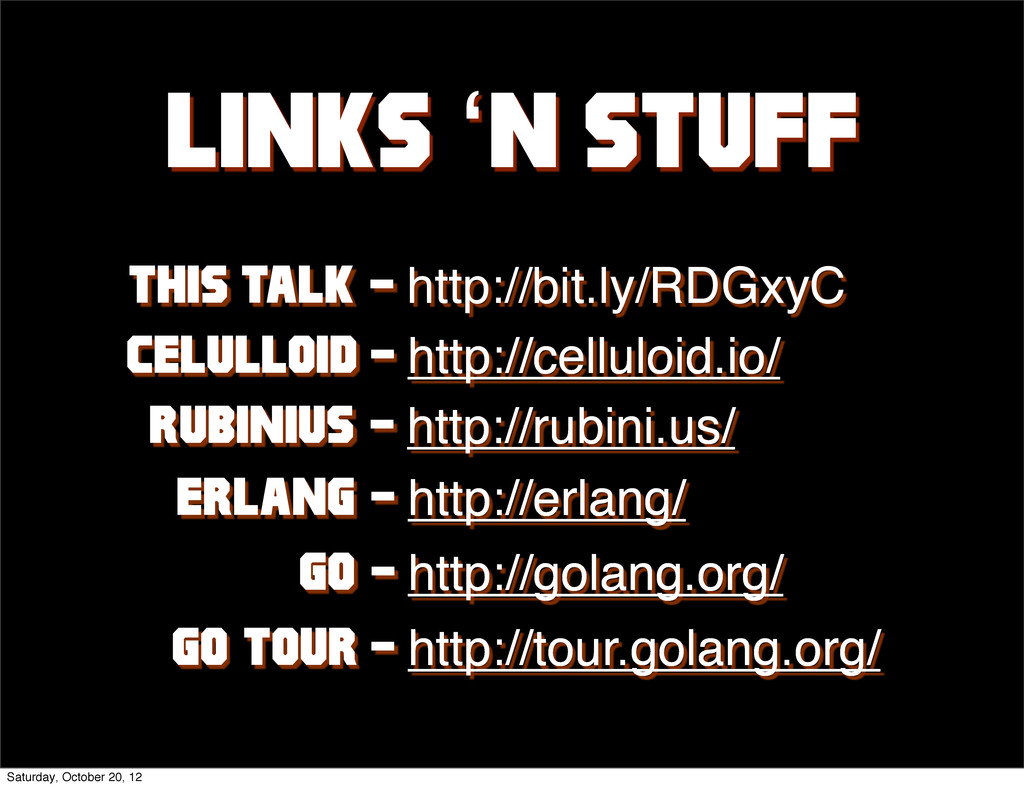 Links 'n stuff this talk: - http://bit.ly/RDGxy...