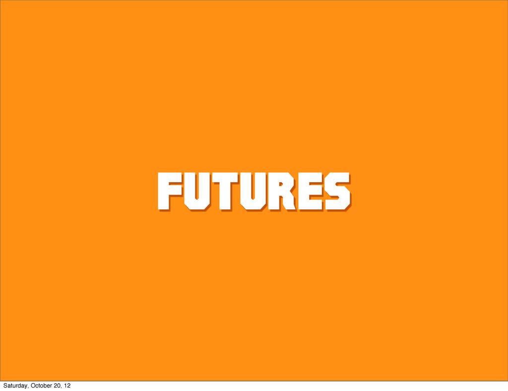 Futures Saturday, October 20, 12