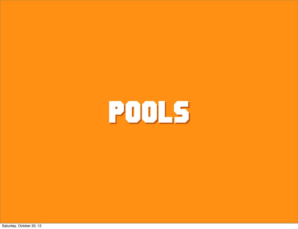 Pools Saturday, October 20, 12