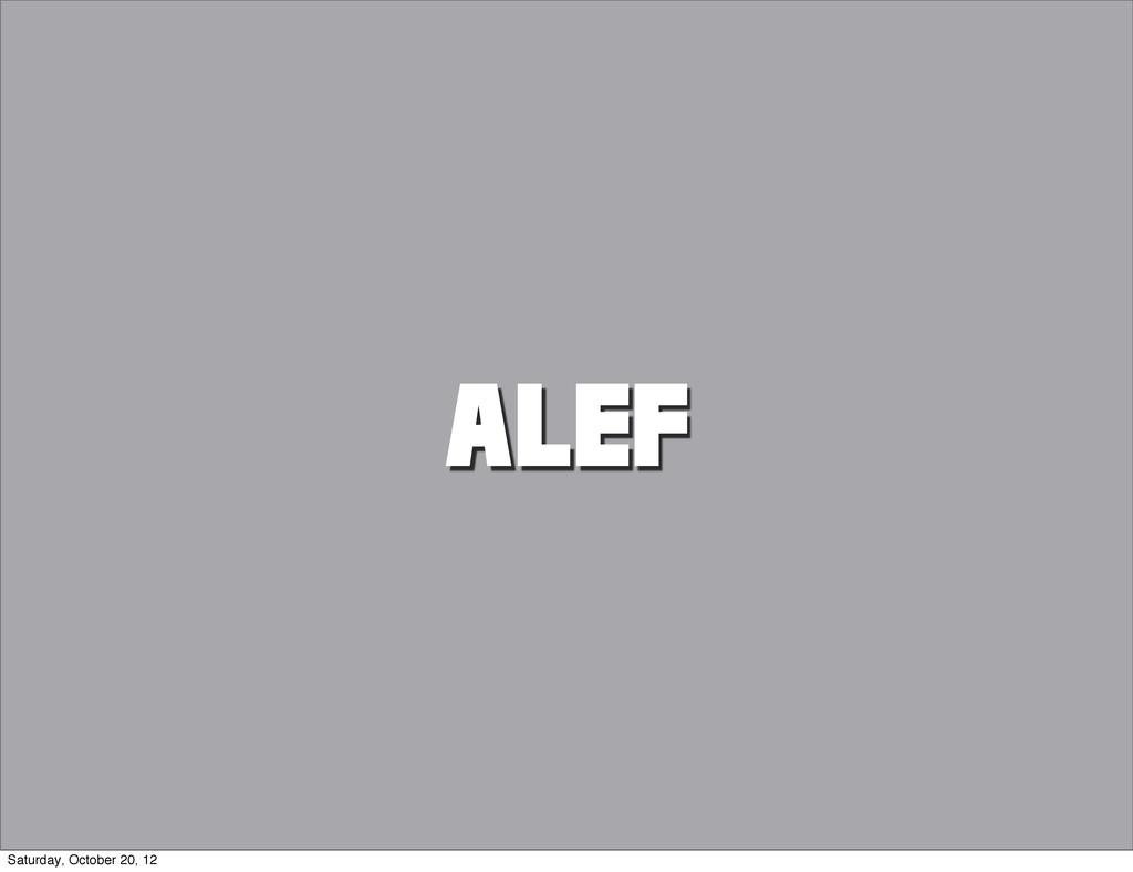 ALEF Saturday, October 20, 12