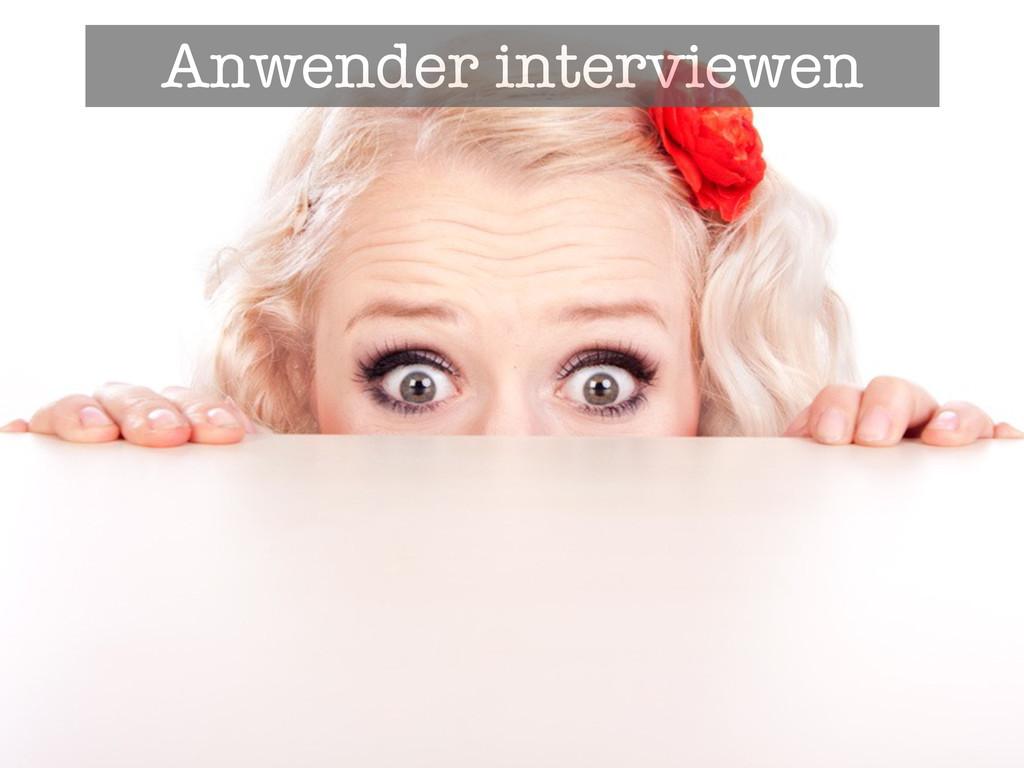 Anwender interviewen