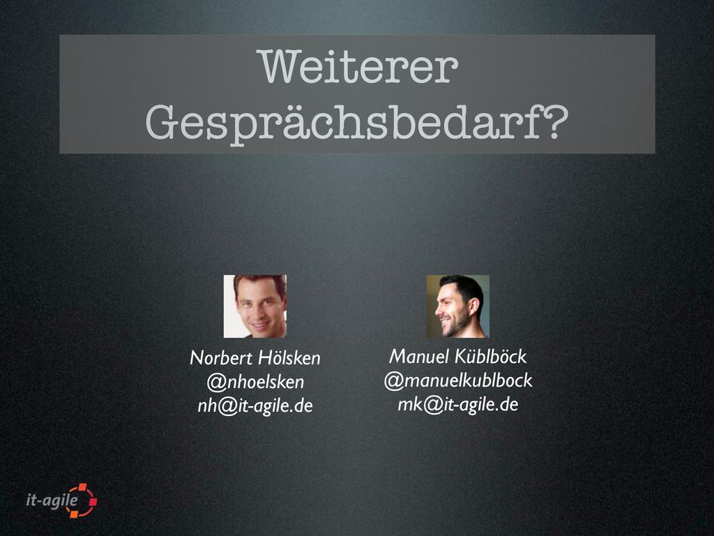 Weiterer Gesprächsbedarf? Norbert Hölsken @nhoe...