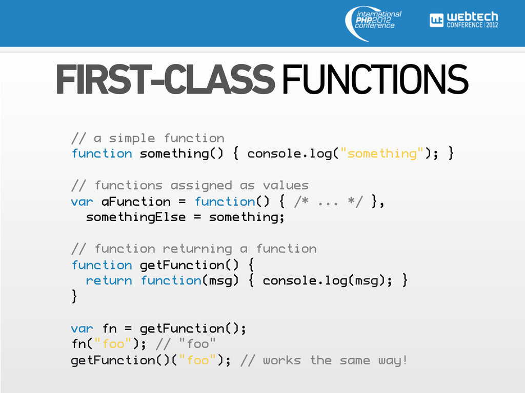 FIRST-CLASS FUNCTIONS // a simple function func...