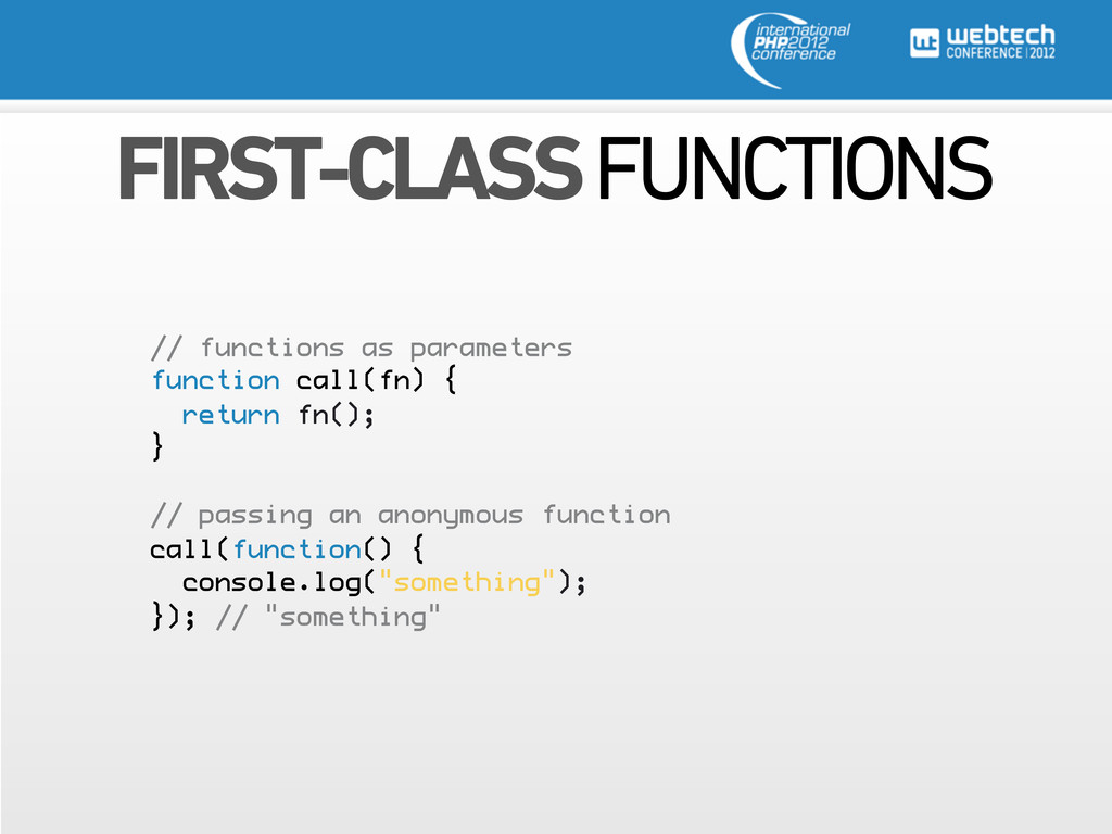 FIRST-CLASS FUNCTIONS // functions as parameter...