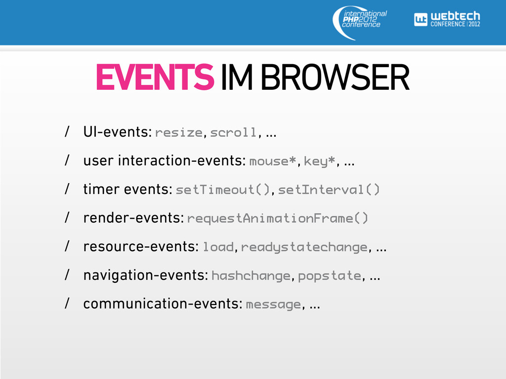 EVENTS IM BROWSER / UI-events: resize, scroll, ...