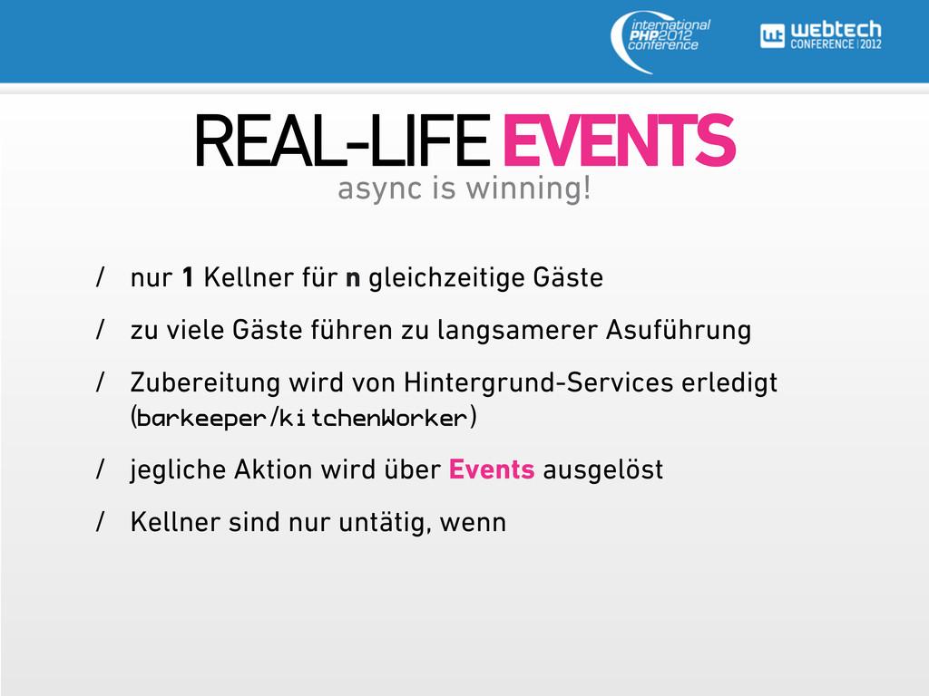 REAL-LIFE EVENTS async is winning! / nur 1 Kell...