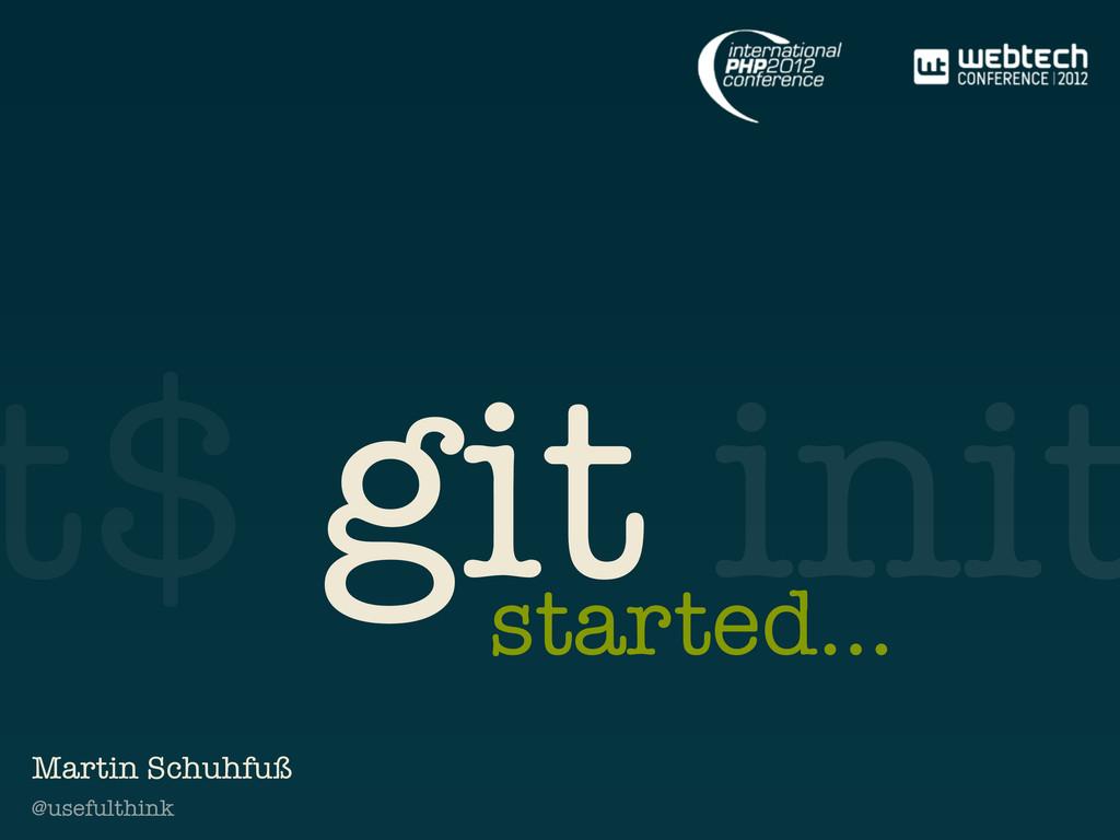 @usefulthink t$ git init started... Martin Schu...