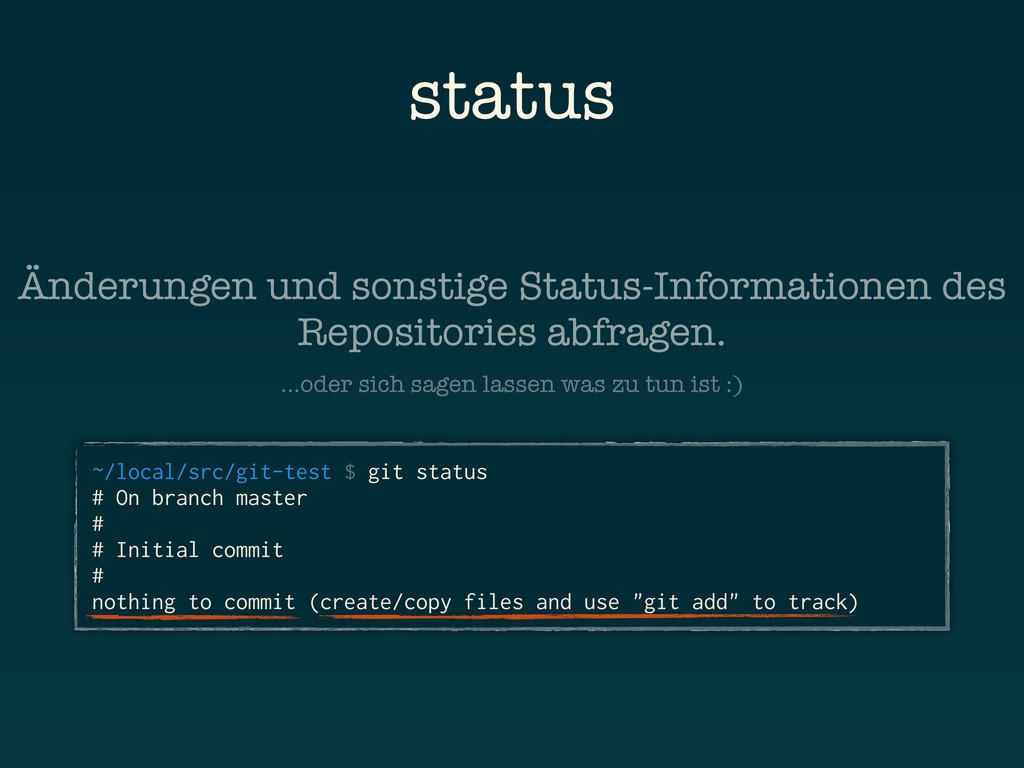 status ~/local/src/git-test $ git status # On b...