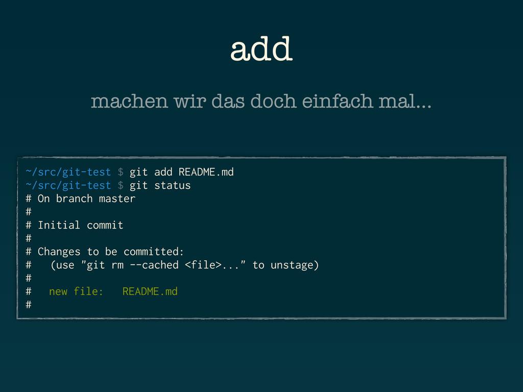 add ~/src/git-test $ git add README.md ~/src/gi...