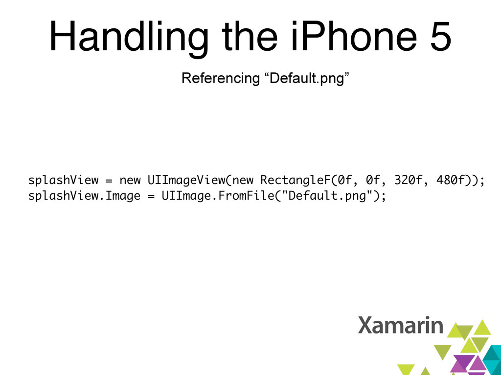 """Handling the iPhone 5 Referencing """"Default.png""""..."""