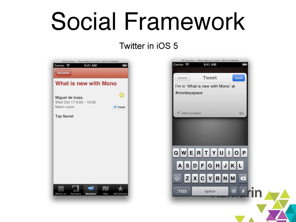 Social Framework Twitter in iOS 5