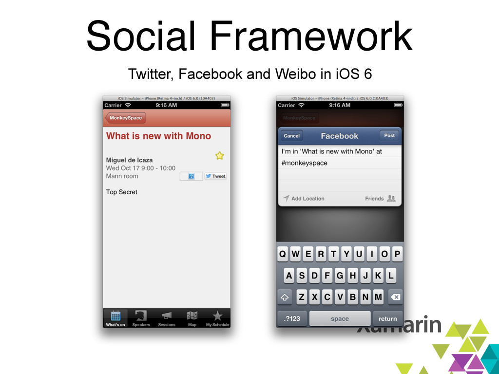 Social Framework Twitter, Facebook and Weibo in...
