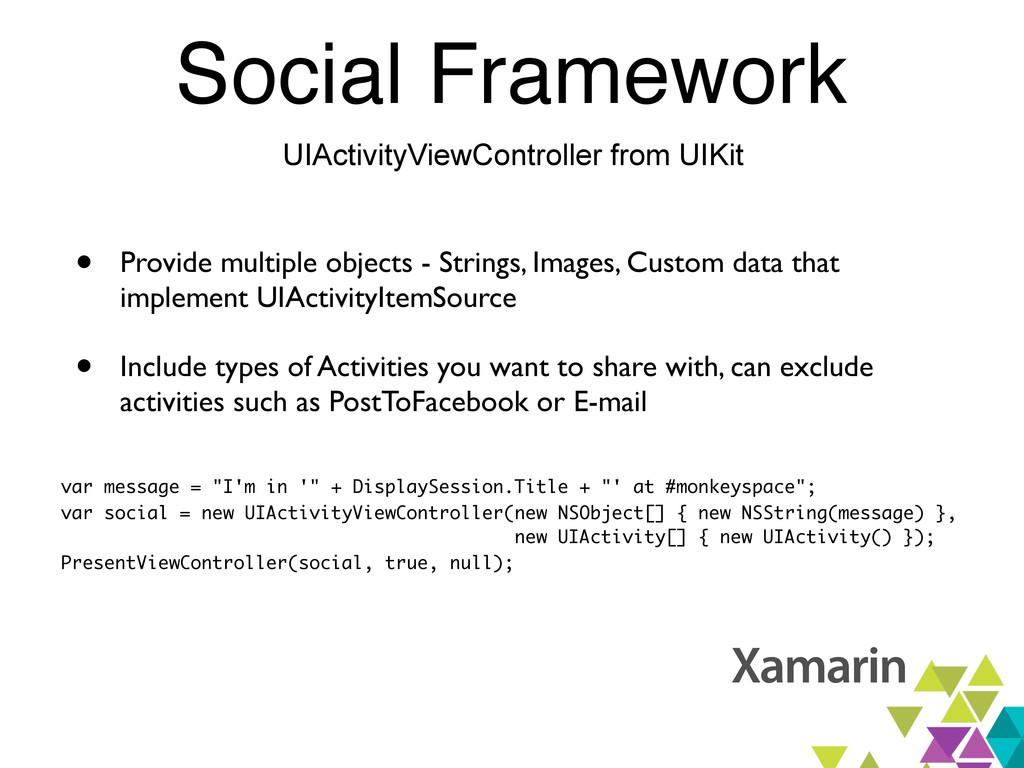 Social Framework UIActivityViewController from ...