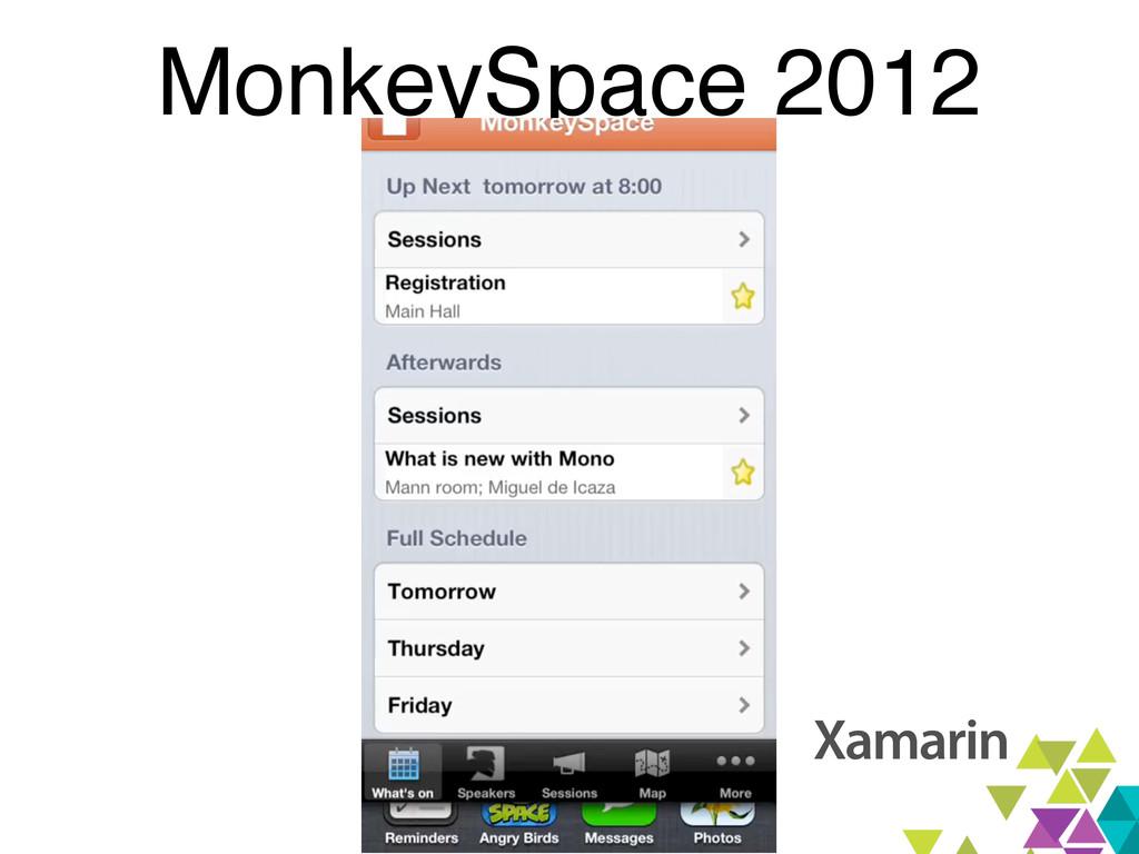 MonkeySpace 2012