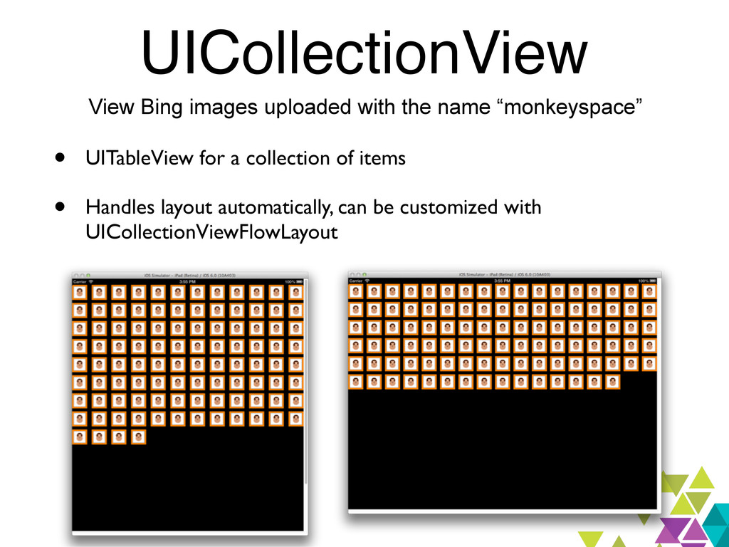 UICollectionView View Bing images uploaded with...