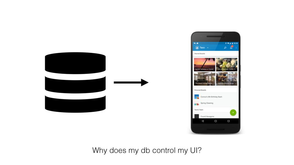 Why does my db control my UI?