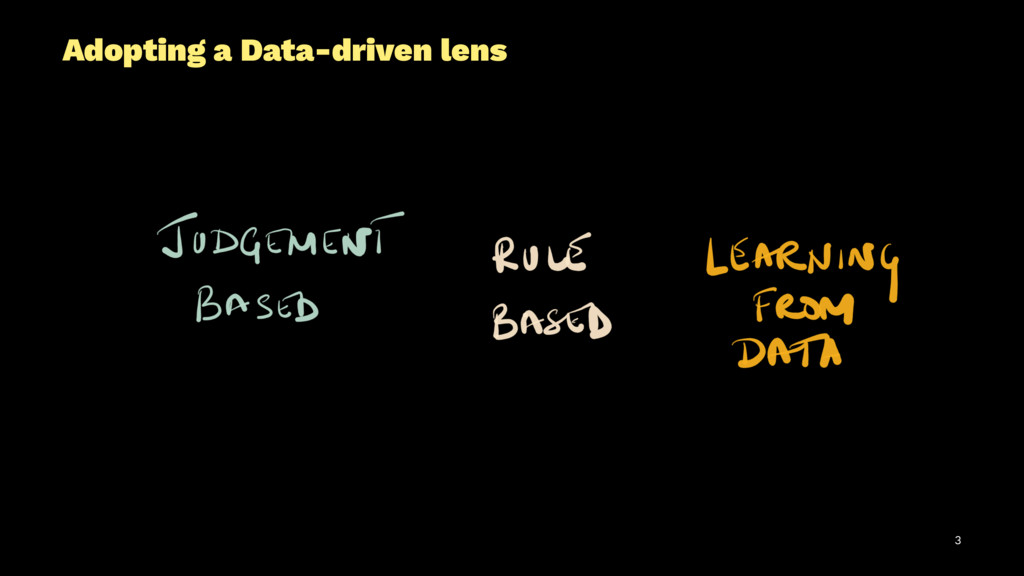 Adopting a Data-driven lens 3