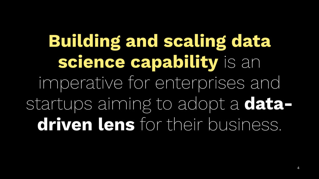 Building and scaling data science capability is...