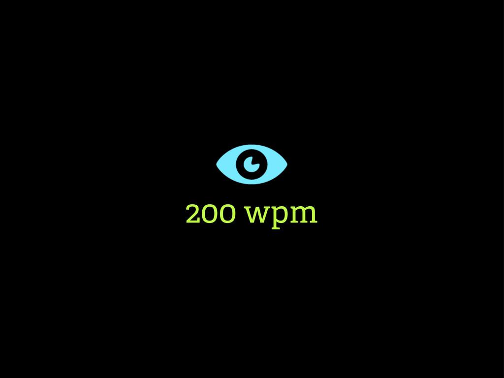 200 wpm