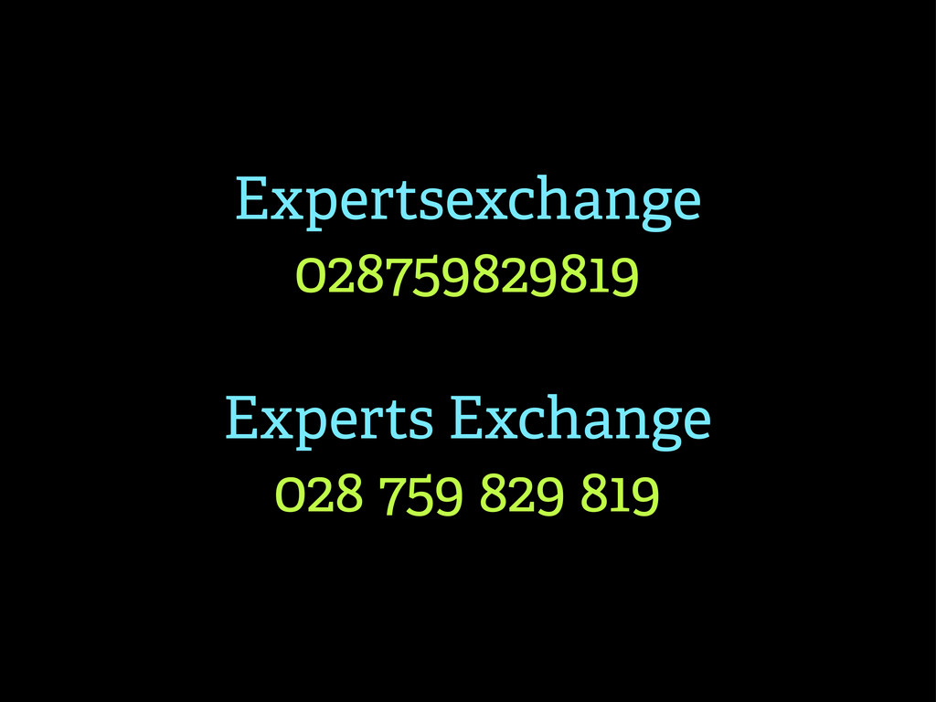 Expertsexchange 028759829819 Experts Exchange 0...