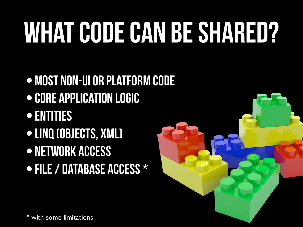 What code can be shared? * with some limitation...