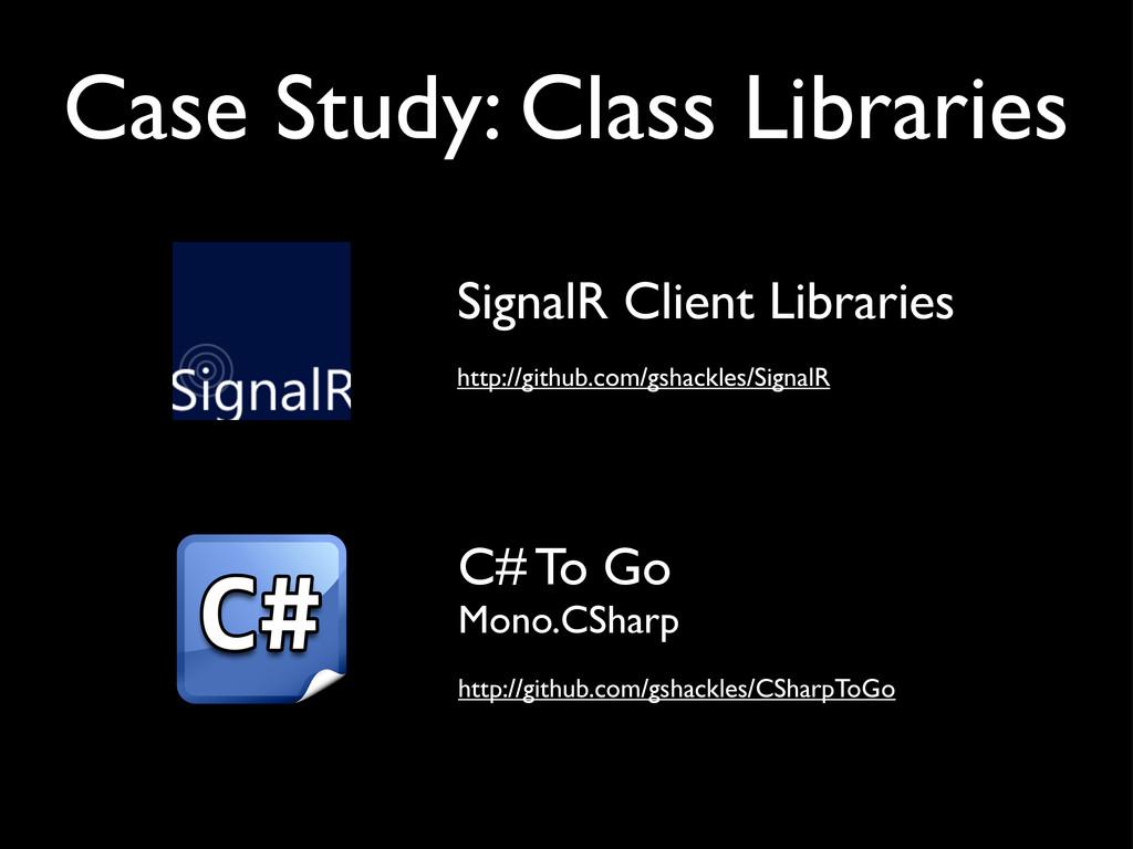 SignalR Client Libraries http://github.com/gsha...