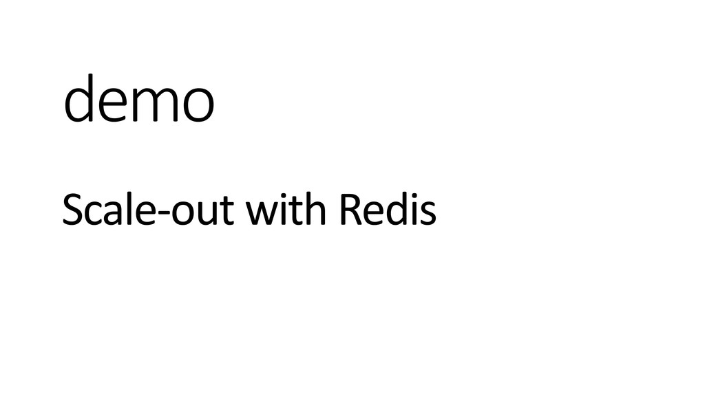 demo Scale-out with Redis