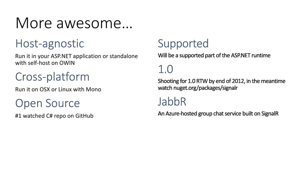 More awesome… Run it in your ASP.NET applicatio...