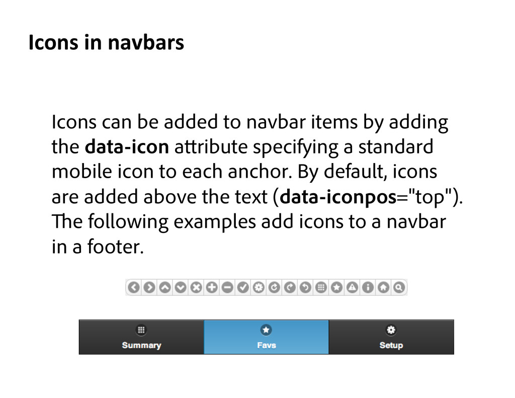 Icons can be added to navbar items by adding th...