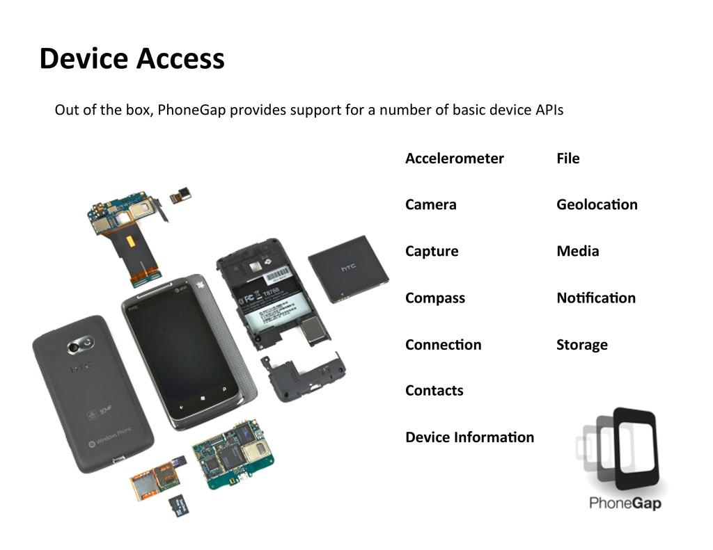 Device Access  Accelerometer    Cam...