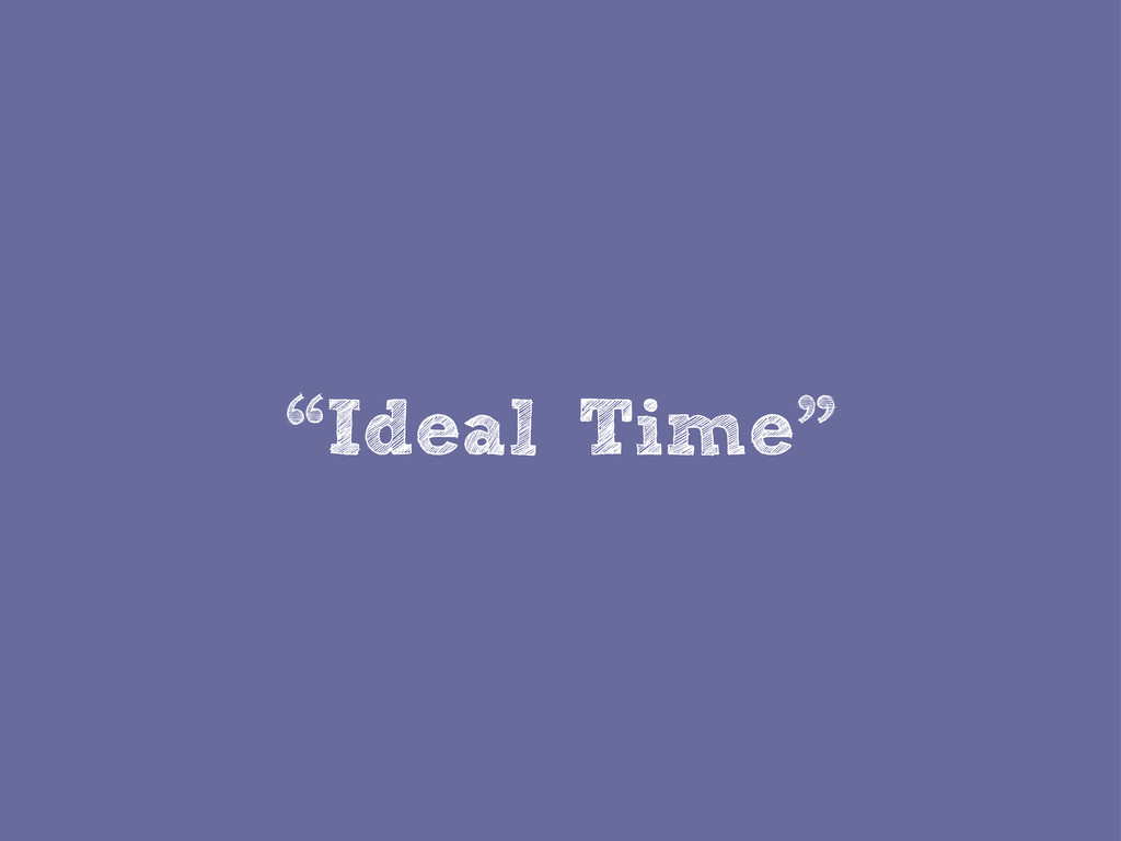 """""""Ideal Time"""""""