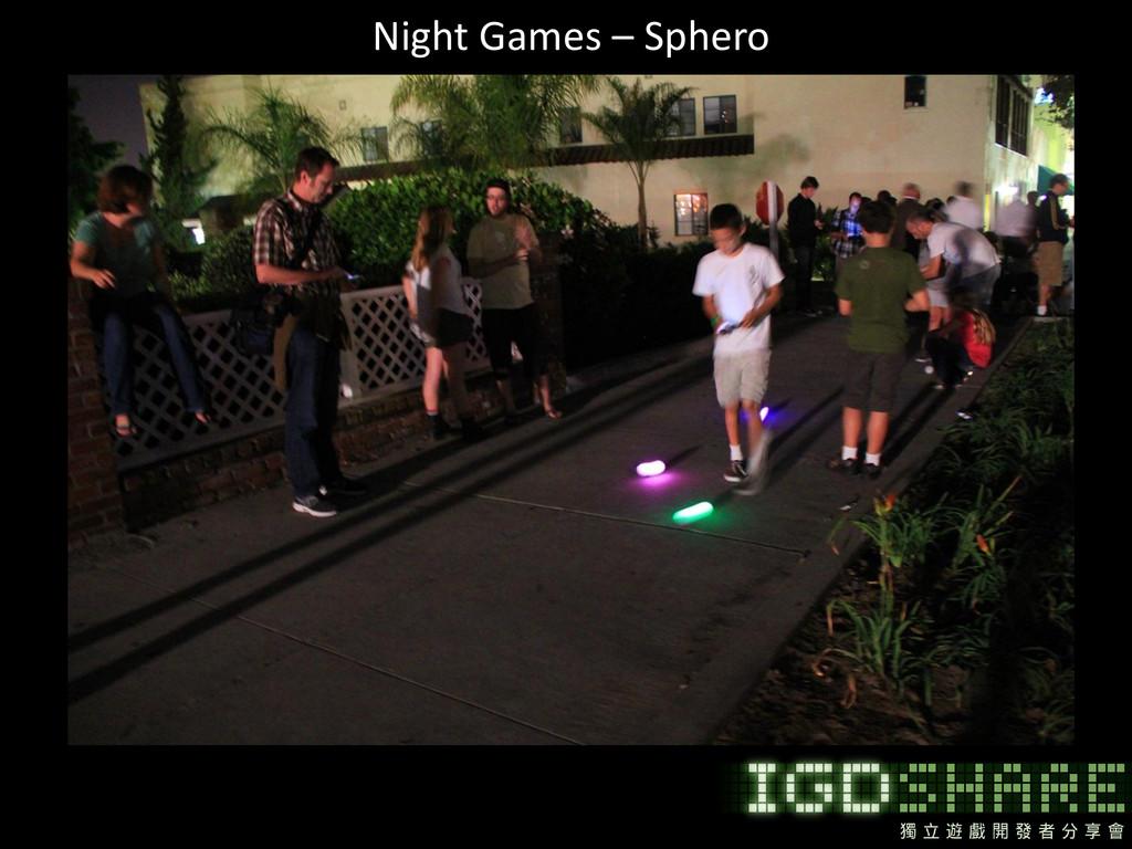 Night Games – Sphero