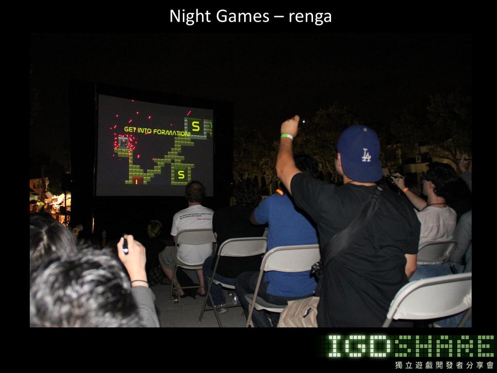 Night Games – renga