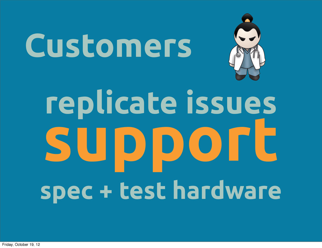 Customers replicate issues support spec + test ...