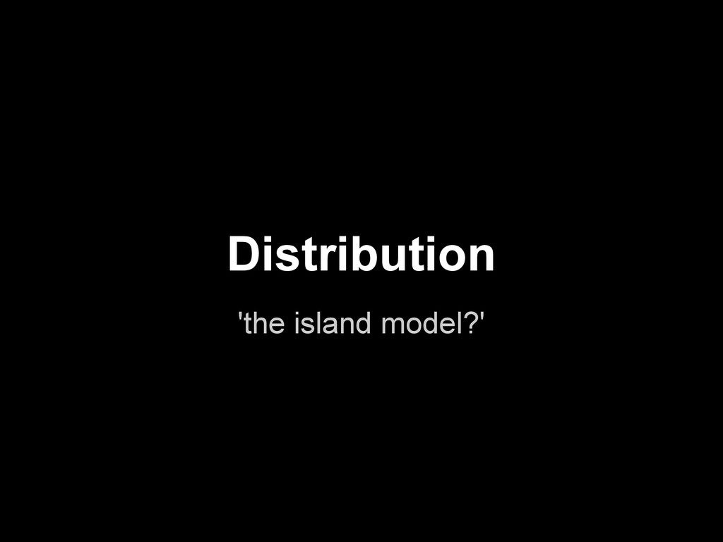 'the island model?' Distribution