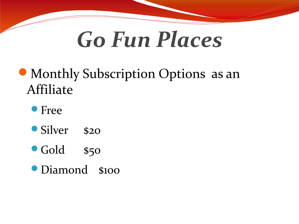 Go Fun Places Monthly Subscription Options as ...