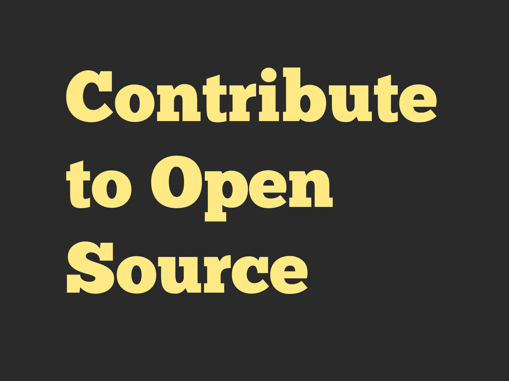 Contribute to Open Source