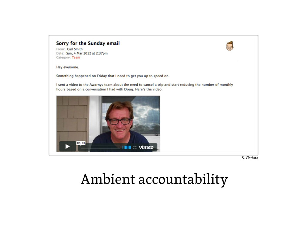 Ambient accountability S. Christa