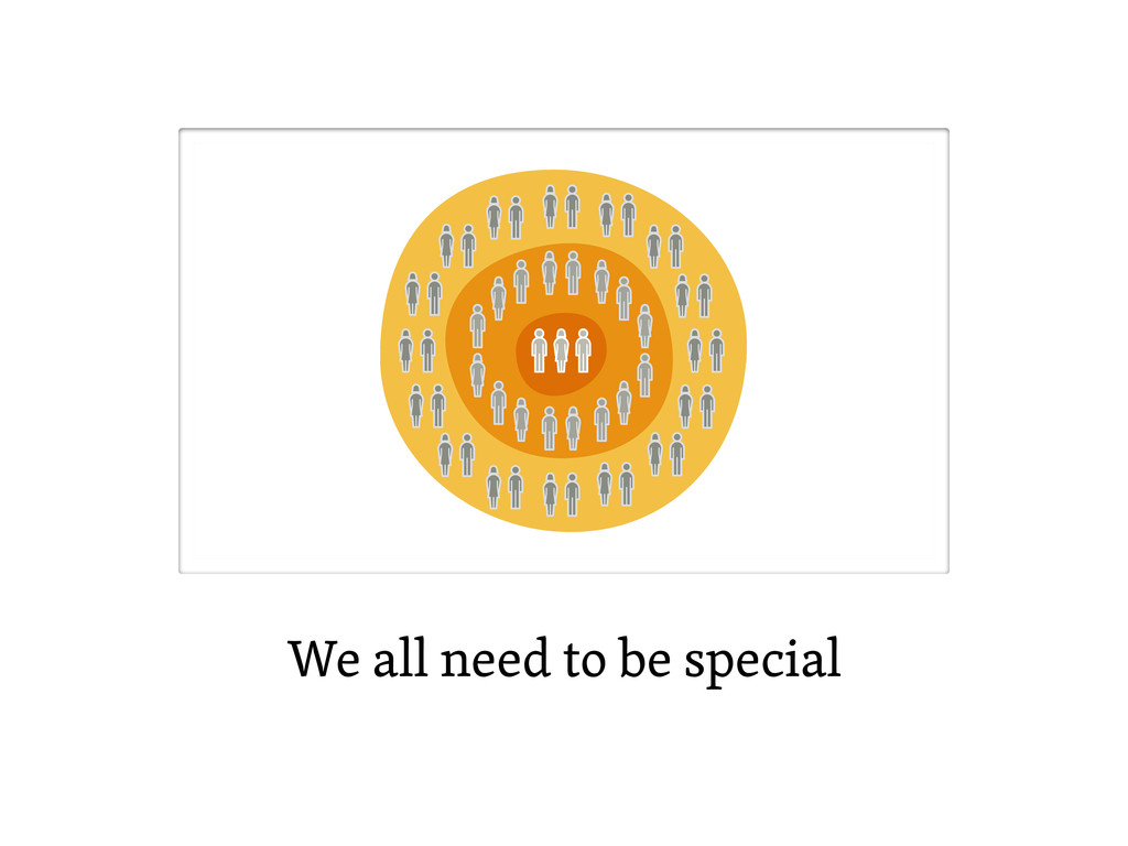 We all need to be special