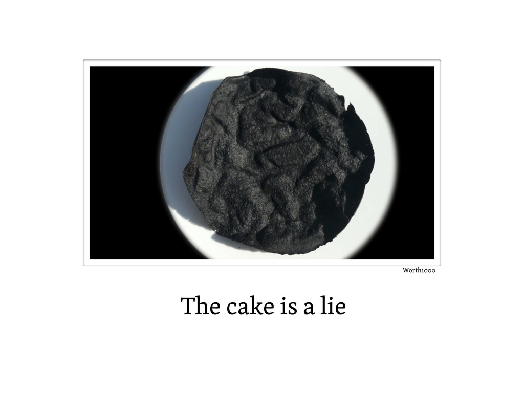 The cake is a lie Worth1000