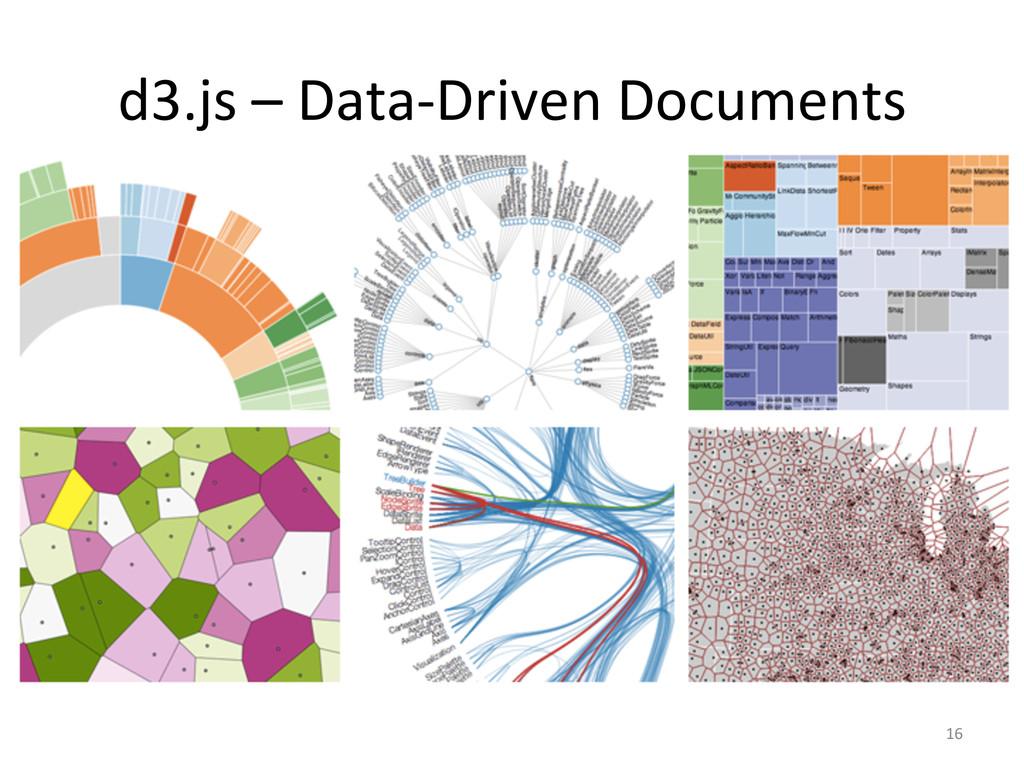 16  d3.js – Data-‐Driven Documents...