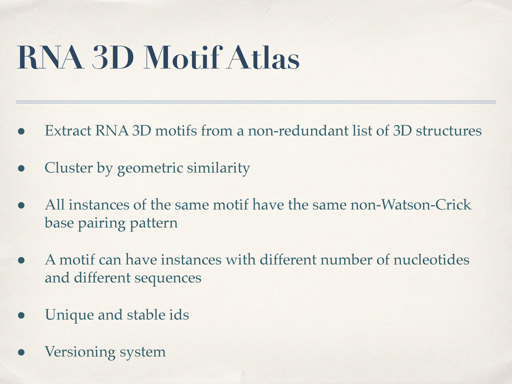 RNA 3D Motif Atlas • Extract RNA 3D motifs from...